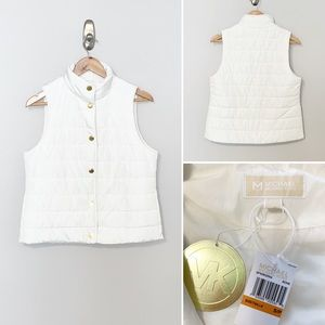 🎈Michael Kors Puff White Women's Vest - Sz Small